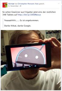 Nexus 7 Gewinner